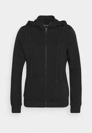 HOODED JACKET METAL HORSESHOE - Zip-up hoodie - black