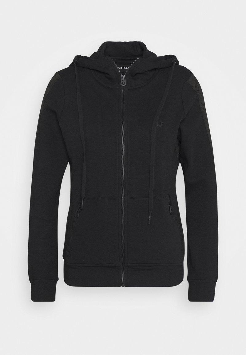 True Religion - HOODED JACKET METAL HORSESHOE - Zip-up hoodie - black