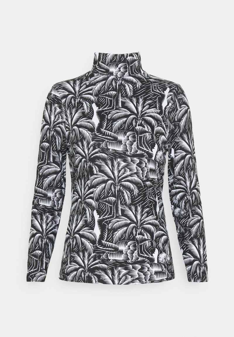 NU-IN - TONI DREHER X nu-in EDEN HIGH NECK LONG SLEEVE TOP - Long sleeved top - black/white