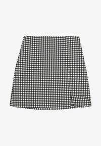 Topshop Petite - CHECK BENGALINE SKIRT - Mini skirt - monochrome - 0