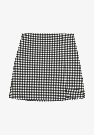 CHECK BENGALINE SKIRT - Mini skirt - monochrome