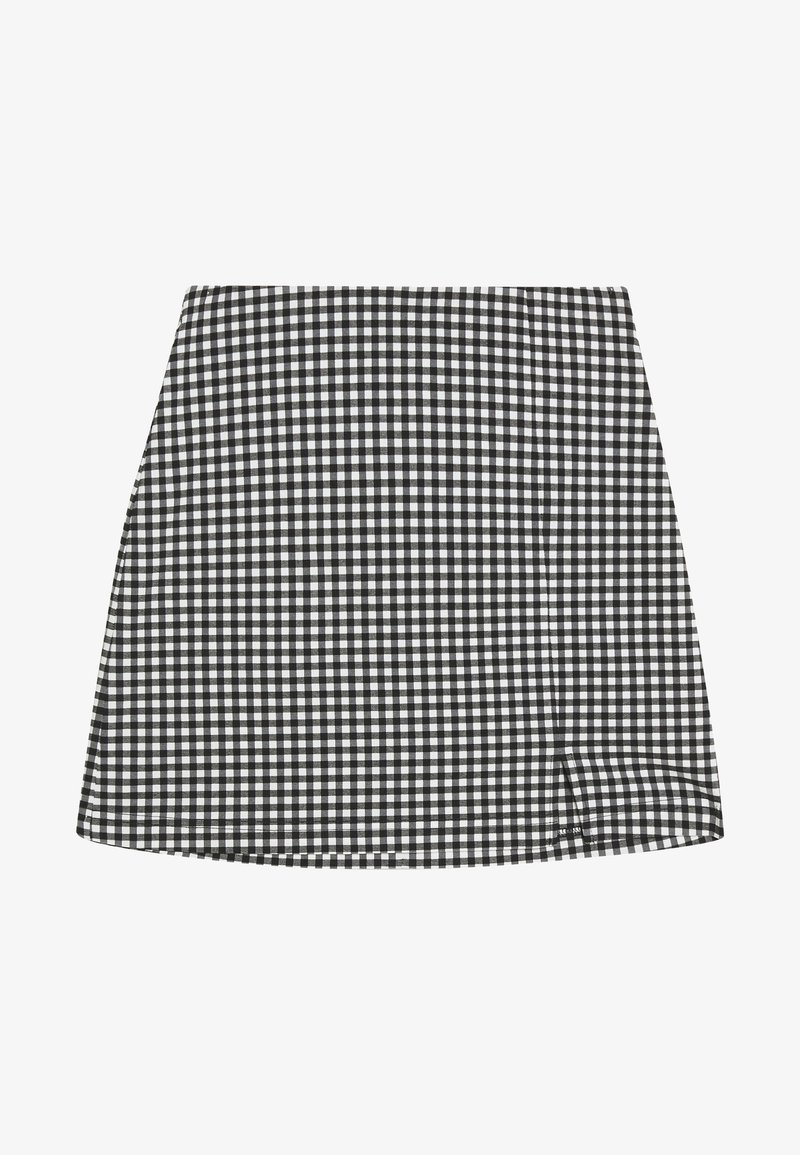 Topshop Petite - CHECK BENGALINE SKIRT - Mini skirt - monochrome