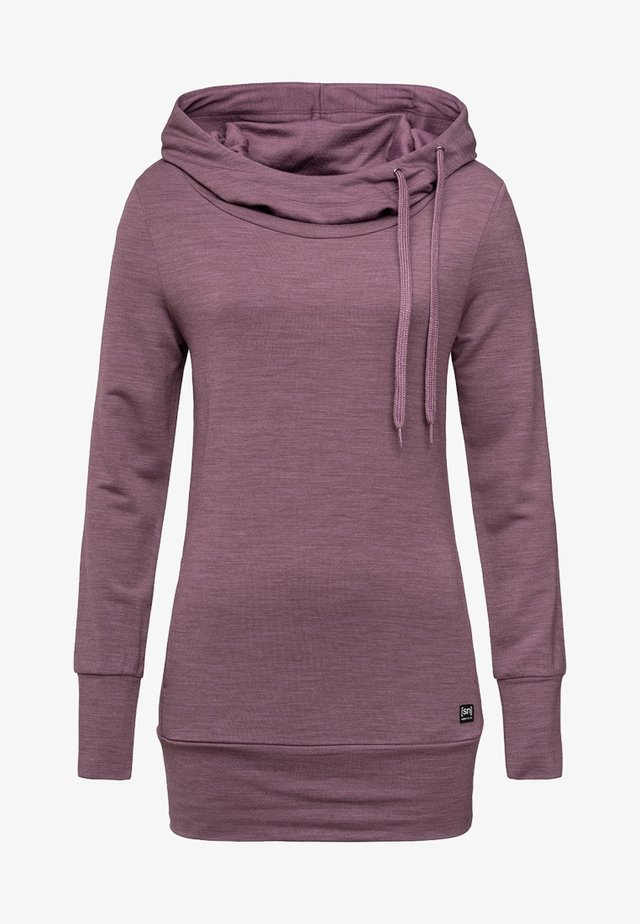 W ESSENTIAL TUNNEL - Hoodie - violett
