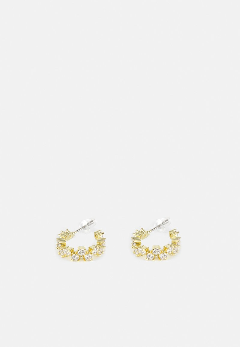 SNÖ of Sweden - CLEMENTINE SMALL ROUND EAR CLEAR - Örhänge - gold-coloured