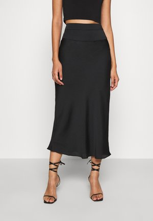 NORMANI BIAS SKIRT - Pencil skirt - black