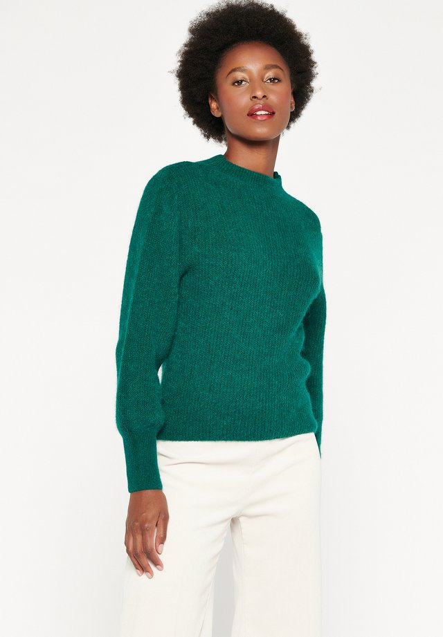 HIGH CLOSED NECK - Trui - green emerald
