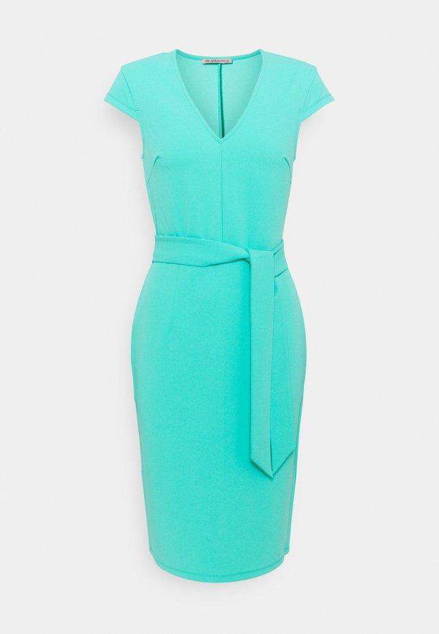 Etui-jurk - turquoise