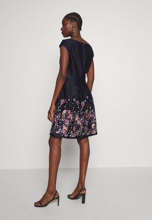 Day dress - navy panne