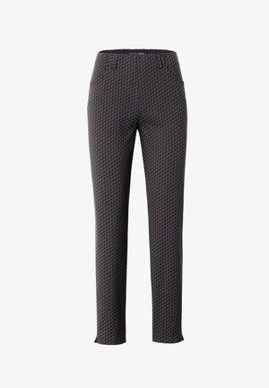INULA-742 90957 JACQUARDHOSE MIT TASCHEN - Trousers - dunkelbraun