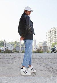 adidas Originals - SUPERSTAR ELLURE - High-top trainers - footwear white/core black/offwhite - 1