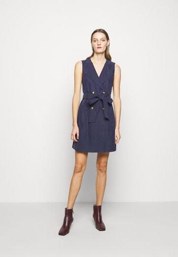 BELTED WRAP MINI DRESS - Shirt dress - blueberry