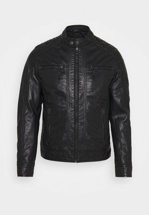 GRACIE - Kožená bunda - black
