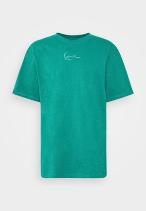 SMALL SIGNATURE TEE UNISEX - T-shirt print - turquoise