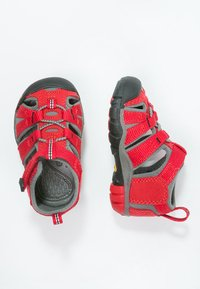 Keen - SEACAMP II CNX - Chodecké sandály - racing red/gargoyle - 1