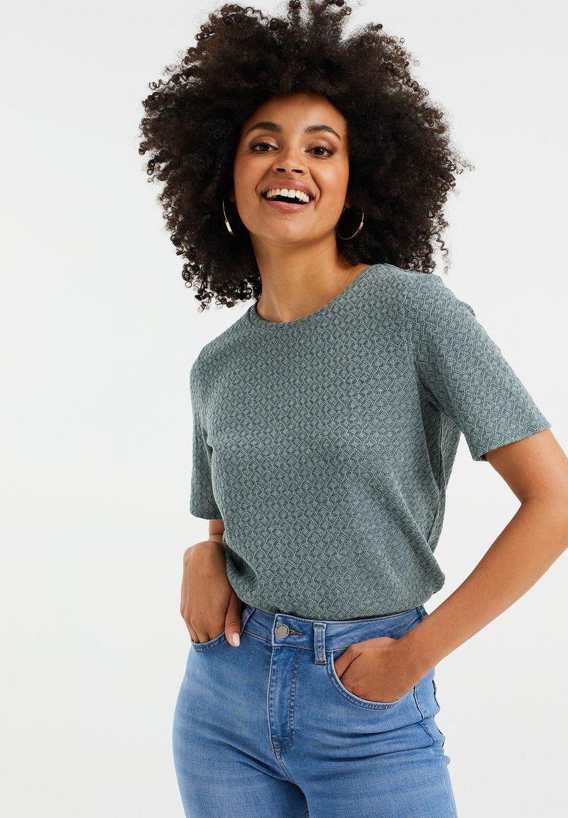 WE Fashion - Basic T-shirt - moss green