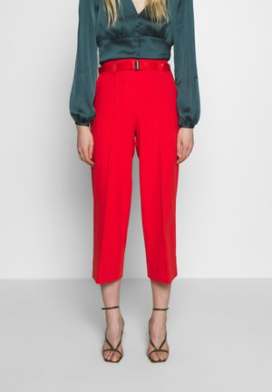 PANTS HIGH WAISTED WIDE LEG  - Trousers - flashy coral