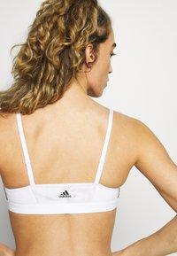 adidas Performance - BRA - Sujetadores deportivos con sujeción ligera - white/black - 4