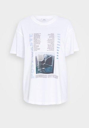ENKULLA TEE - T-shirts print - waste white