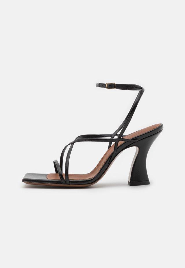 HEEL - Sandaalit nilkkaremmillä - black