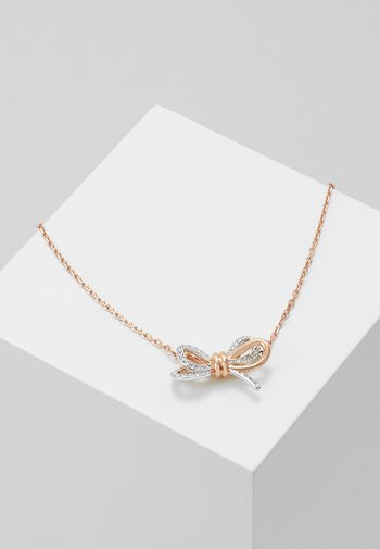 LIFELONG BOW PENDANT CRY MIX - Necklace - rose gold-coloured