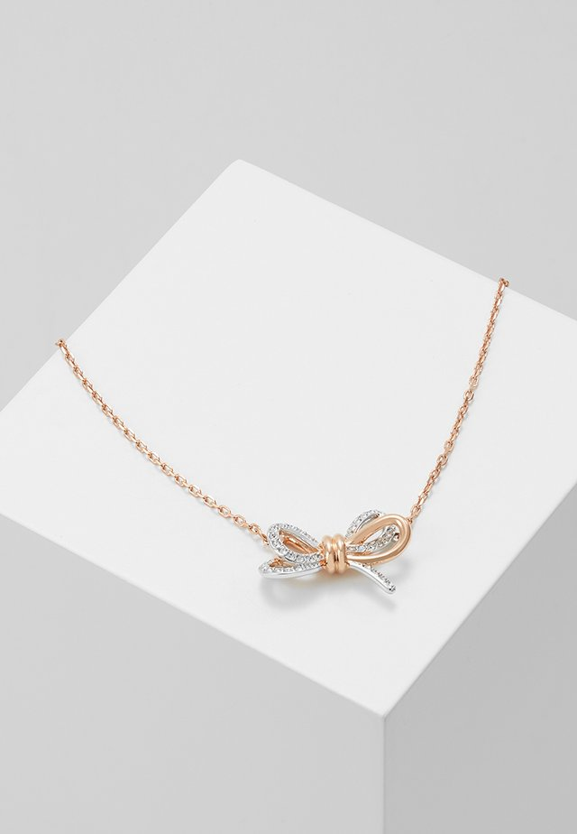 LIFELONG BOW PENDANT CRY MIX - Ketting - rose gold-coloured