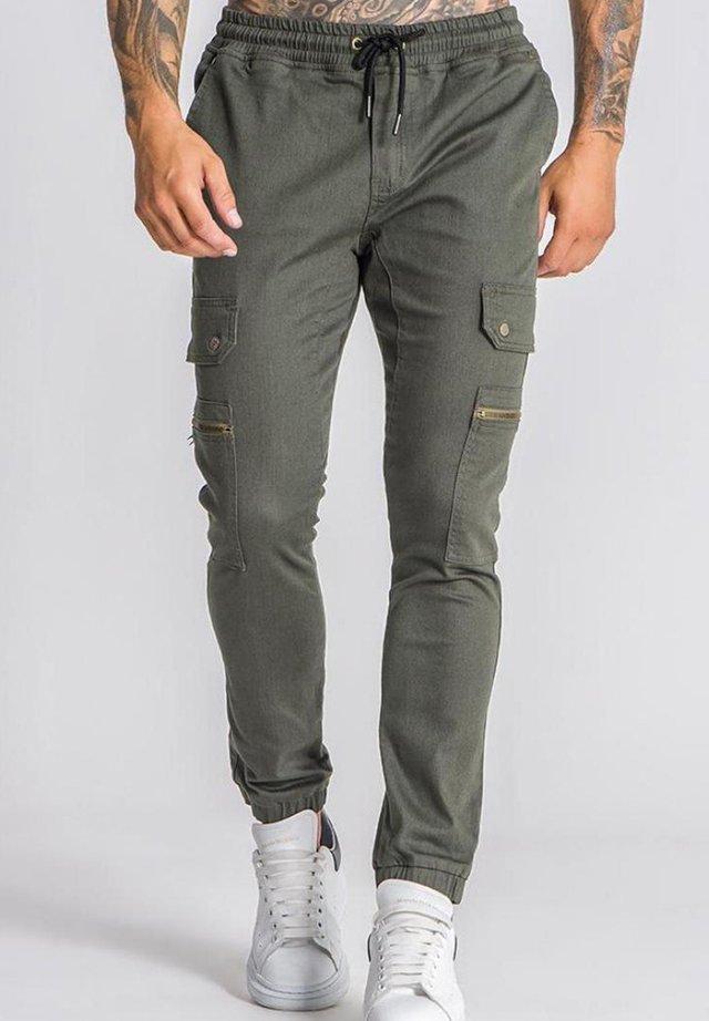 Pantalon cargo - khaki