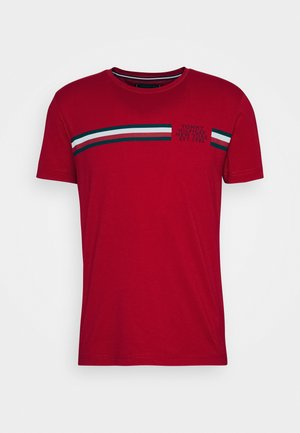 CORP SPLIT TEE - T-shirt z nadrukiem - primary red