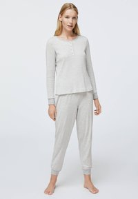 OYSHO - STRIPED - Nattøj trøjer - grey - 1