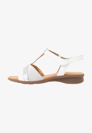 Sandały - weiß/silber