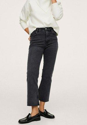 TAILLE HAUTE - Bootcut jeans - gris