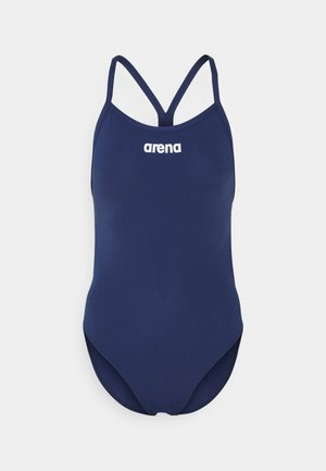SOLID LIGHTECH HIGH - Swimsuit - navy/white