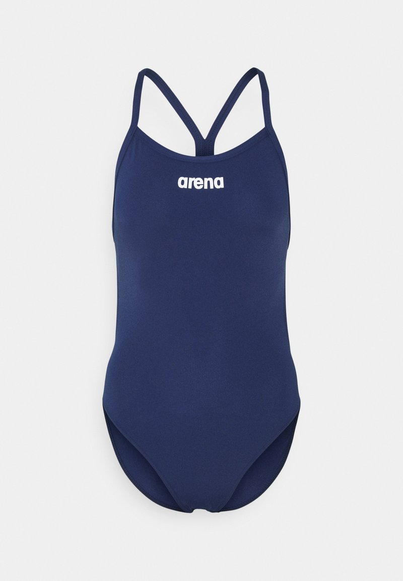 Arena - SOLID LIGHTECH HIGH - Swimsuit - navy/white