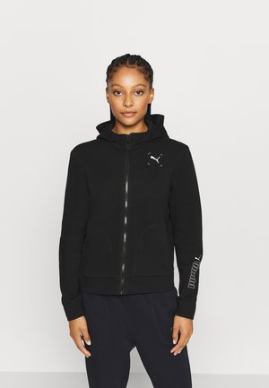 NU TILITY - veste en sweat zippée - black