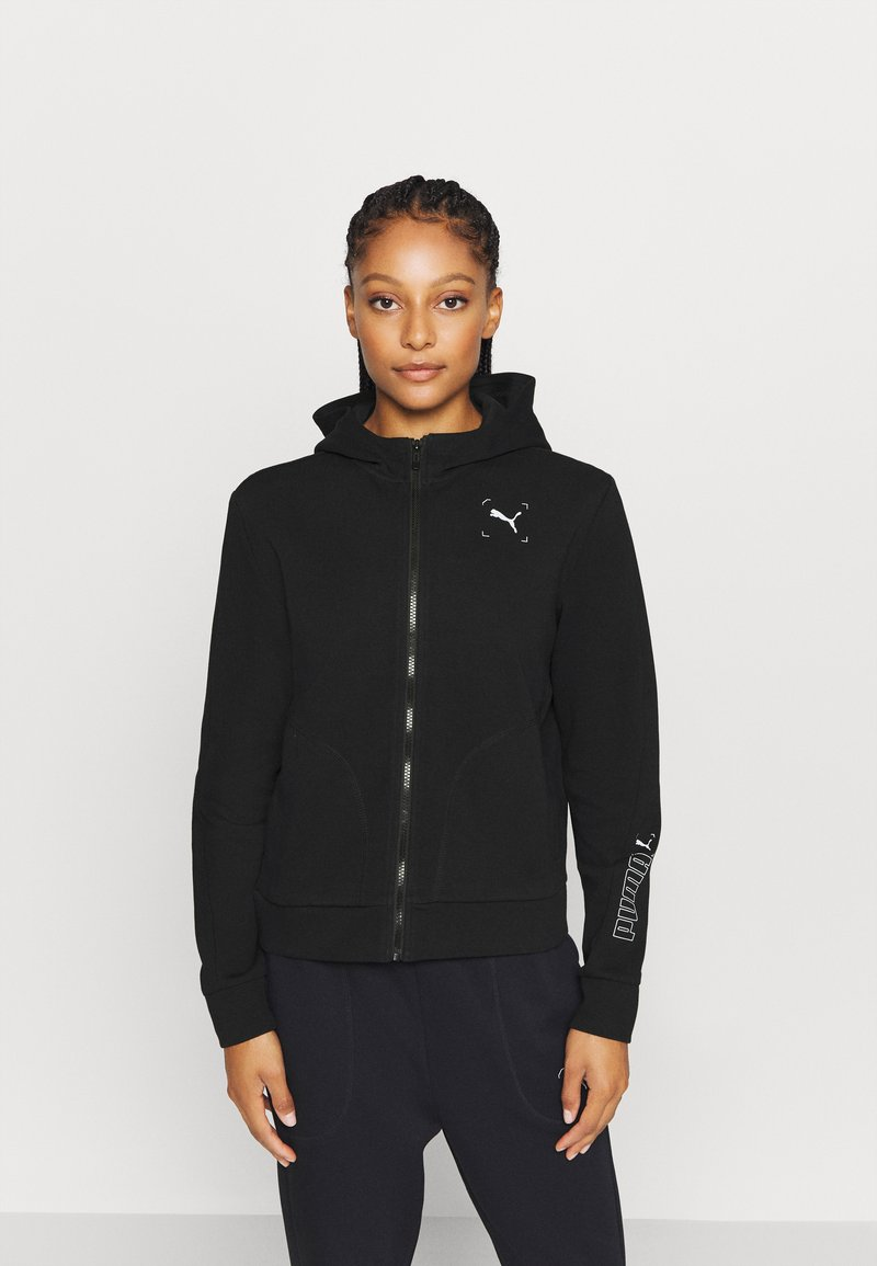 Puma - NU TILITY - Zip-up hoodie - black