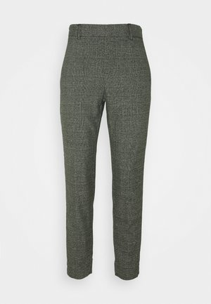 OBJLISA SLIM PANT SEASONAL - Trousers - black/chipmunk/white