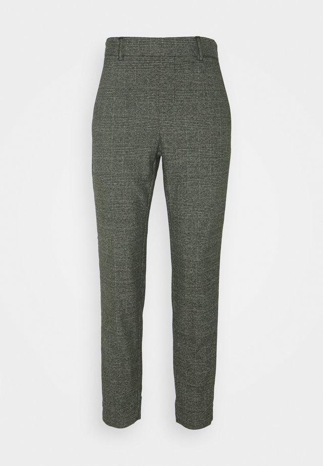 OBJLISA SLIM PANT SEASONAL - Broek - black/chipmunk/white
