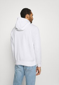 Nike Sportswear - CLUB HOODIE - Tröja med dragkedja - white/black - 2