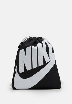 HERITAGE UNISEX - Drawstring sports bag - black/white