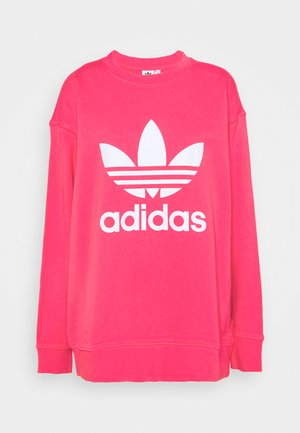 CREW  - Sweatshirt - power pink/white