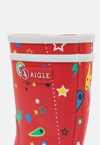 Aigle - LOLLY POP UNISEX - Holínky - rouge/flipper - 5