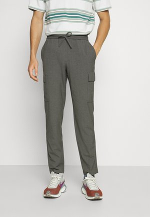 PANTS PATCH THIGH POCKET - Kalhoty - grey mix