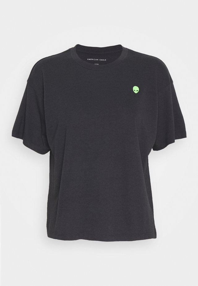 EMBROIDERY TOUR TEE DYE - T-shirts basic - washed black