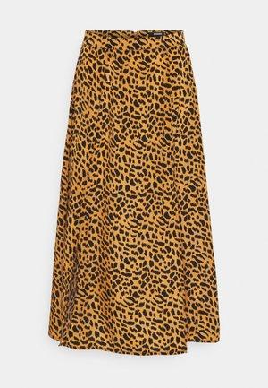 DOUBLE SPLIT MIDI SKIRT - A-line skirt - stone