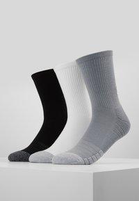 Under Armour - HEATGEAR CREW 3 PACK - Sports socks - steel/white - 0