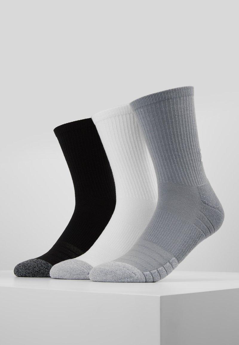 Under Armour - HEATGEAR CREW 3 PACK - Sports socks - steel/white