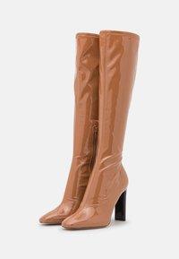 ALDO - EDIGORWEN - Stivali con i tacchi - dark beige - 2