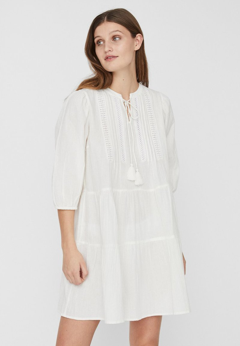 Vero Moda - BOHO - Korte jurk - snow white