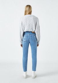 PULL&BEAR - Straight leg jeans - mottled dark blue - 2