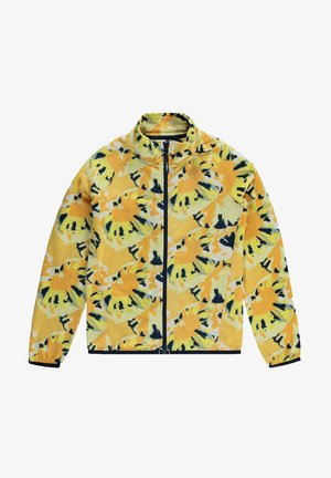 PRINTED FULL ZIP - Fleecejas - yellow aop w/ brown