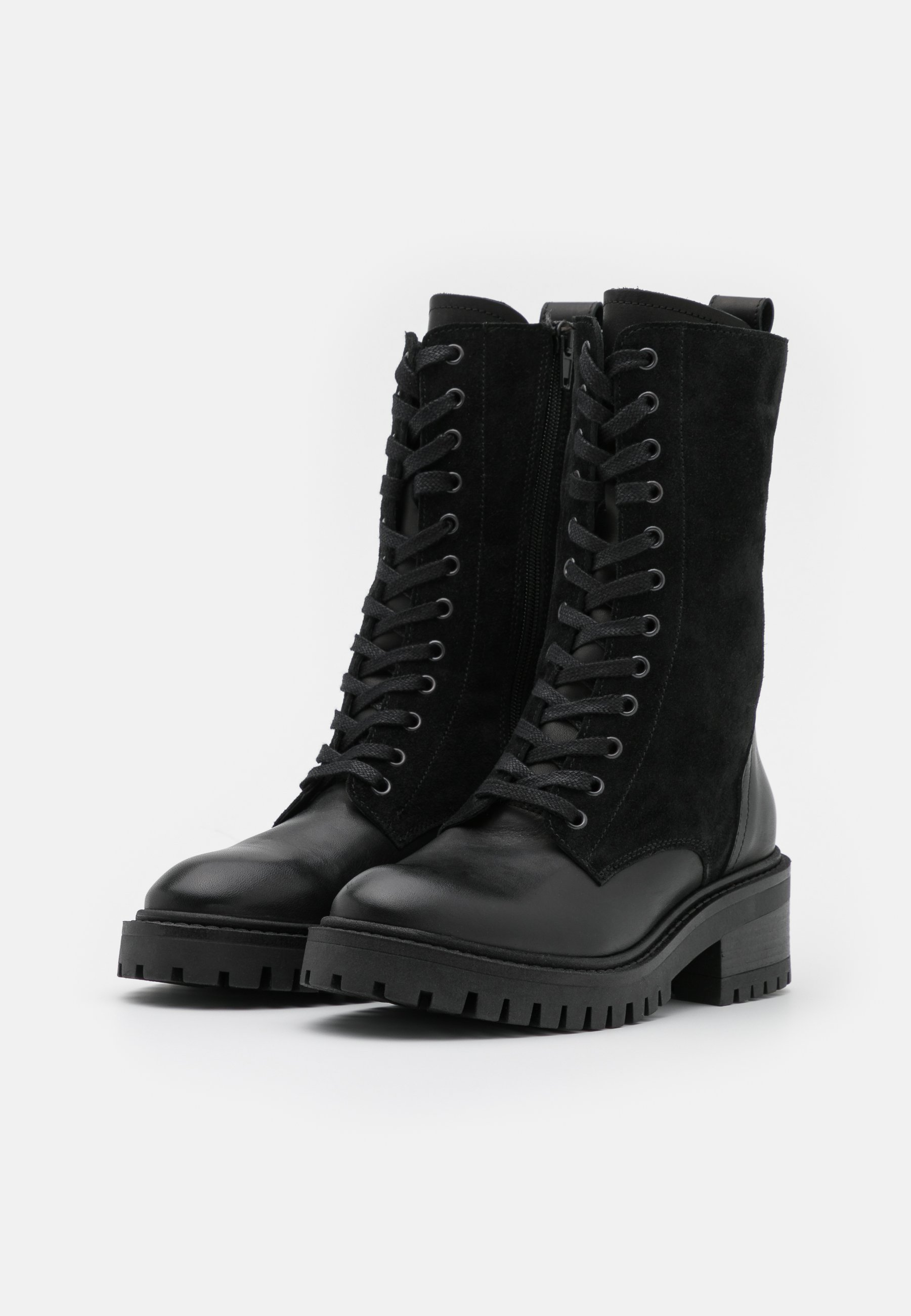 Women Lace-up boots - black